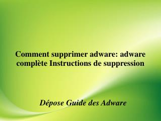 Plein description de adware