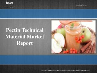 Pectin Market: Global Industry Analysis, Forecast and Research Report