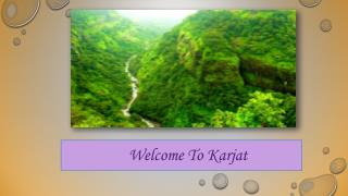 Overview Of City Karjat