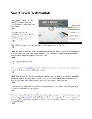 SmartLevels Testimonials