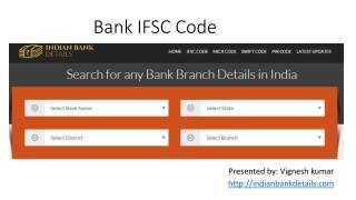 Get Bank IFSC Code