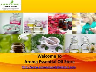 Aromatherpy Oil Suppliers in India