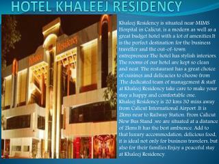 Hotel Khaleej Residency