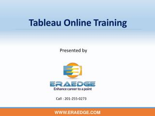 Tableau Online Training by Industry experts - EraEdge