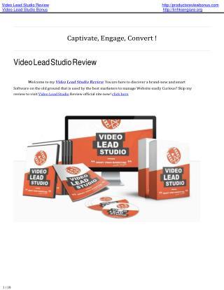 Video lead studio review | video lead studio bonus.