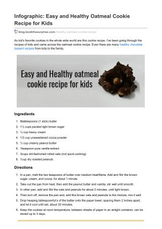Infographic: Easy and Healthy Oatmeal Cookie Recipe for Kids