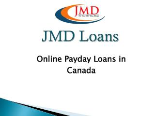 Online Payday Loans in Canada