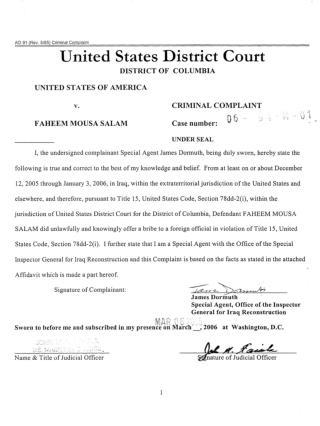 Blog 100 Blog 100  US  Army Civilian Translator Faheem Salam Charged