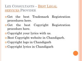 Legal Services in Chandigarh and Punjab