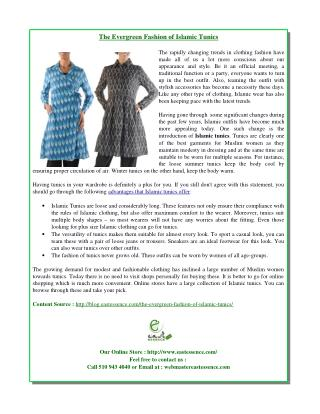The Evergreen Fashion of Islamic Tunics