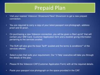 Videocon Prepaid Plan Punjab