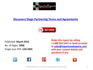 Discovery Stage Partnering in Pharma and Biotech Market: Trends, Leaders, and Contracts Directory