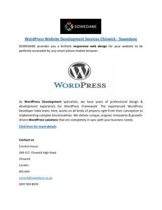 WordPress Website Development Services Chiswick - Sowedane