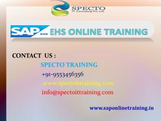 best classes on sap ehs online training in live