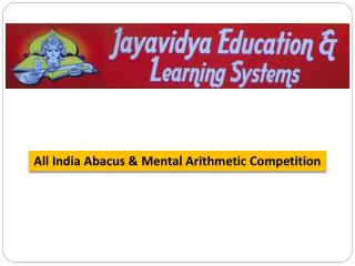 All India Abacus & Mental Arithmetic Competition – www.jayavidya.com