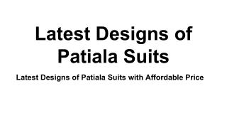 Best Patiala Suits