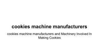 cookies manufacturer