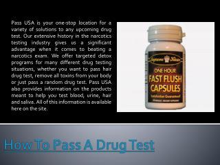 Pass A Drug Test