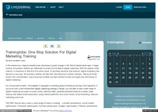 Traininglobe: One Stop Solution For Digital Marketing Training