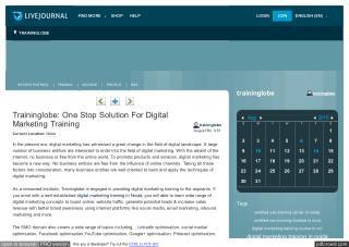 Traininglobe: One Stop Solution For Digital Marketing Training