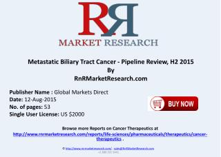 Metastatic Biliary Tract Cancer Pipeline Therapeutics Assessment Review H2 2015