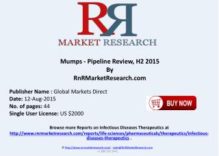 Mumps Pipeline Therapeutics Assessment Review H2 2015