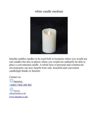 white candle medium