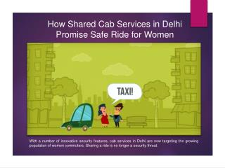 How Shared Cab Services in Delhi Promise Safe Ride for Women