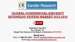 Global Research on Commercial Aircraft Autopilot System Market to 2019: Analysis and Forecasts Report