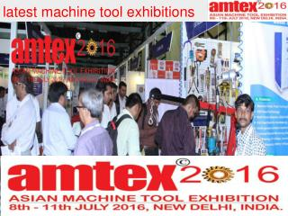 Latest machine tool events