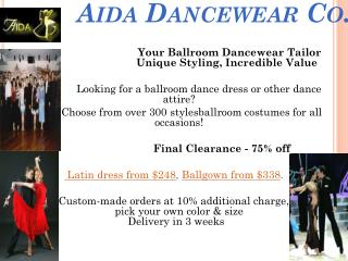 Ballroom Dance Dresses - Aida Dancewear Co.