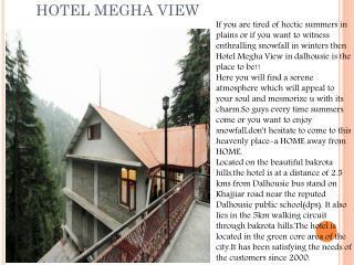 Hotel Megha View