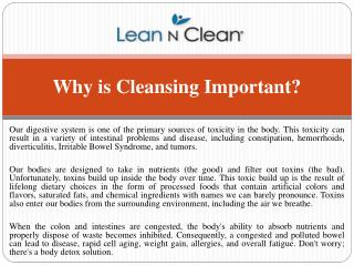 Why is Cleansing Important by natural remedies?