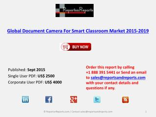 Global Document Camera For Smart Classroom Market 2015-2019