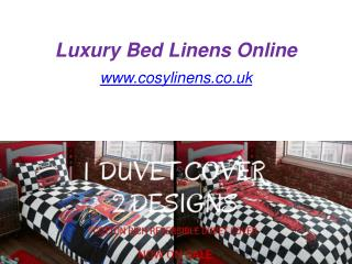 Luxury Bed Linens Online - www.cosylinens.co.uk