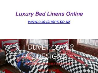 Luxury Bed Linens Online - www.cosylinens.co.uk