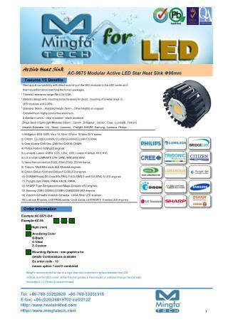 Modular Active LED Star Heat Sink