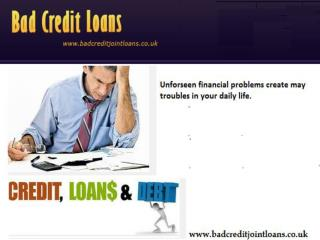 Bad Credit Loans- Easy And Perfet Solution For Bad Credit Emergency