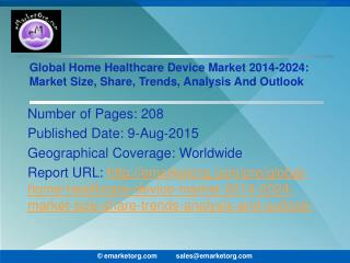 Global Home Healthcare Device Market Sales Revenue Predicted to Reach 40.2billion by 2019