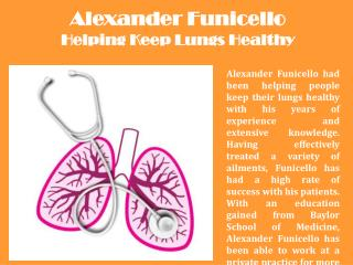 Alexander Funicello Helping Keep Lungs Healthy
