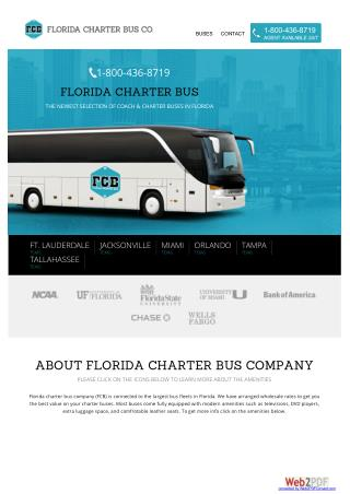 Florida Bus Charter, Florida Bus Rental, Florida Charter Bus Company