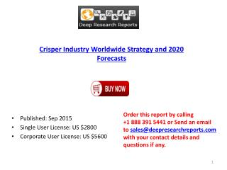 Crisper Industry Statistics and Opportunities Report 2015