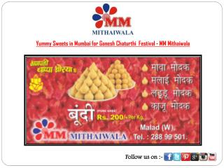 Traditional Sweets for Ganesh Utsav - MM Mithaiwala