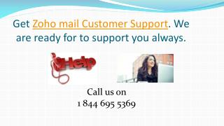1 844 695 5369 Zoho mail tech support number