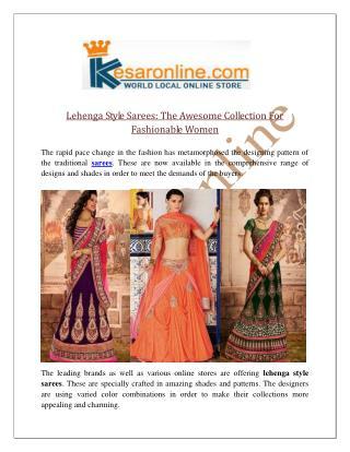 Lehenga Style Sarees Online In UK | Lehenga Sarees