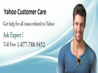 Yahoo Customer Care 1-877-788-9452 Toll Free