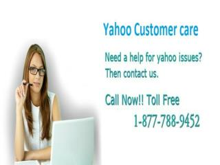Yahoo Customer Care 1-877-788-9452 Toll Free