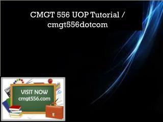 CMGT 556 UOP Tutorial / cmgt556dotcom