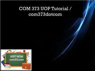 COM 373 UOP Tutorial / com373dotcom