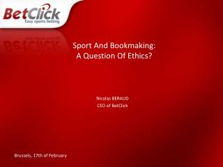 Sport And Bookmaking: